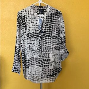 Westbound Black and White blouse